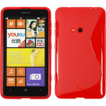 Silikon Hülle Lumia 625 S-Style rot