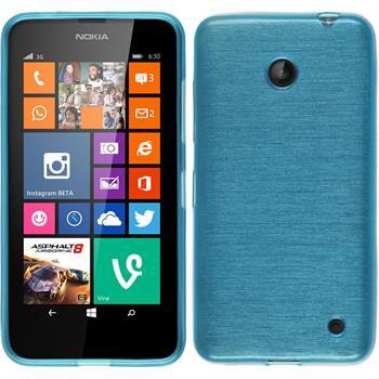 Silikonhülle für Nokia Lumia 630 brushed blau