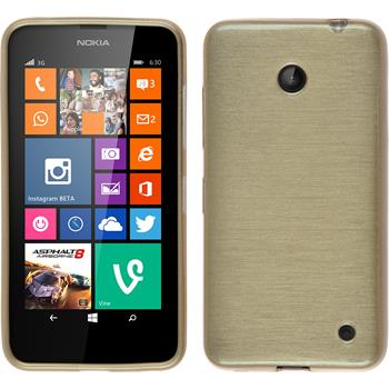 Silicone Case for Nokia Lumia 630 brushed gold