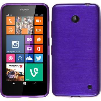 Silicone Case for Nokia Lumia 630 brushed purple