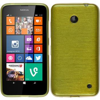 Silikon Hülle Nokia Lumia 630 brushed pastellgrün Case