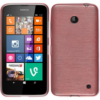 Silikon Hülle Lumia 630 brushed rosa