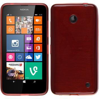 Silikonhülle für Nokia Lumia 630 brushed rot