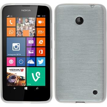 Silikon Hülle Lumia 630 brushed weiß