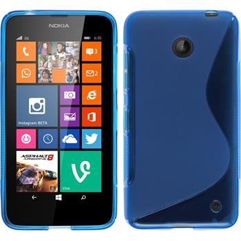 Silikon Hülle Lumia 630 S-Style blau