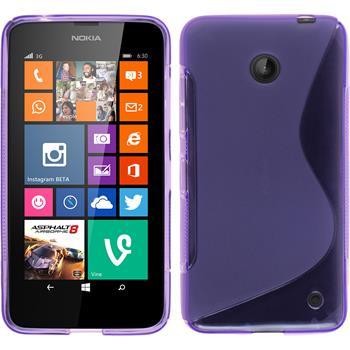 Silicone Case for Nokia Lumia 630 S-Style purple