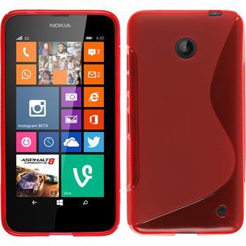 Silikon Hülle Lumia 630 S-Style rot