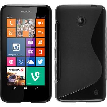 Silikonhülle für Nokia Lumia 630 S-Style schwarz