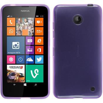 Silikon Hülle Lumia 630 transparent lila