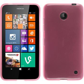 Silikon Hülle Lumia 630 transparent rosa