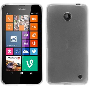 Silikon Hülle Lumia 630 transparent weiß