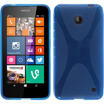 Silikon Hülle Lumia 630 X-Style blau