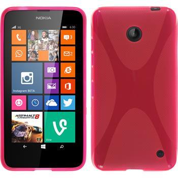 Silikon Hülle Lumia 630 X-Style pink