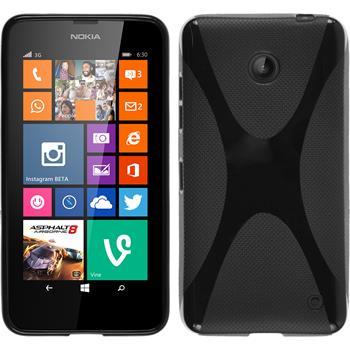 Silikon Hülle Lumia 630 X-Style schwarz