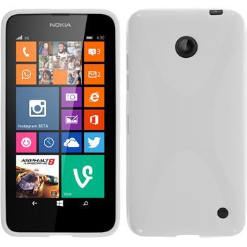Silikonhülle für Nokia Lumia 630 X-Style weiß