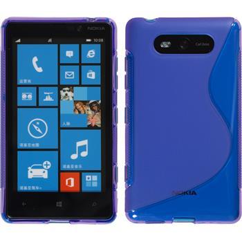 Silikonhülle für Nokia Lumia 820 S-Style lila