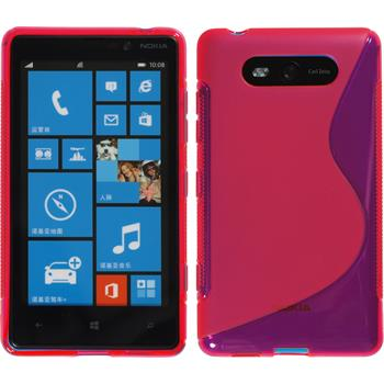 Silicone Case for Nokia Lumia 820 S-Style hot pink