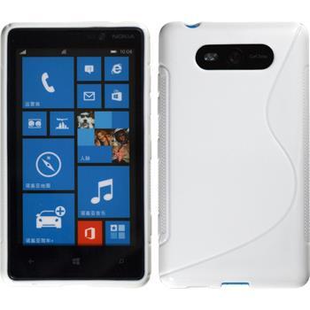 Silicone Case for Nokia Lumia 820 S-Style white