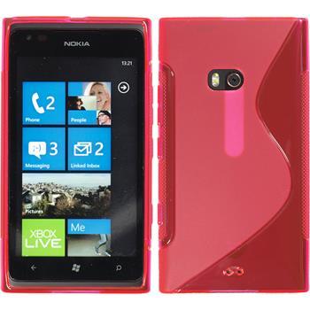 Silikon Hülle Lumia 900 S-Style pink