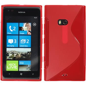 Silicone Case for Nokia Lumia 900 S-Style red