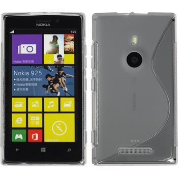 Silicone Case for Nokia Lumia 925 S-Style gray