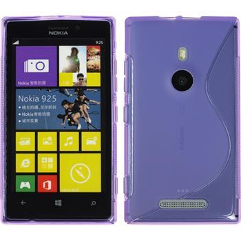 Silicone Case for Nokia Lumia 925 S-Style purple