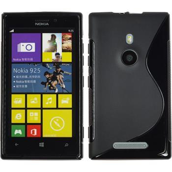 Silicone Case for Nokia Lumia 925 S-Style black