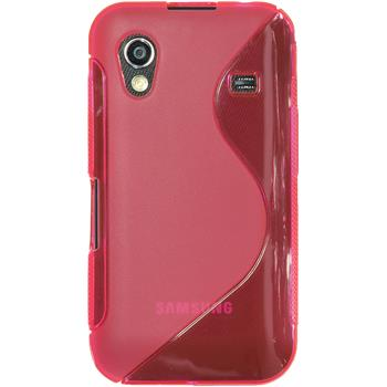 Silicone Case for Samsung Galaxy Ace S-Style hot pink