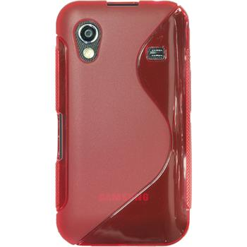 Silicone Case for Samsung Galaxy Ace S-Style red