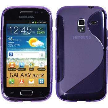 Silicone Case for Samsung Galaxy Ace 2 S-Style purple