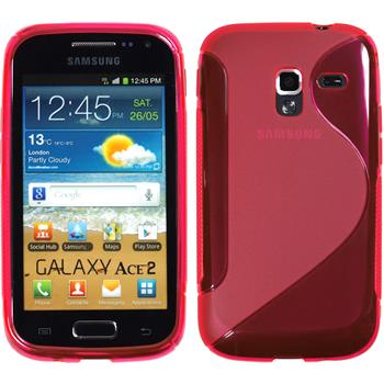 Silicone Case for Samsung Galaxy Ace 2 S-Style hot pink