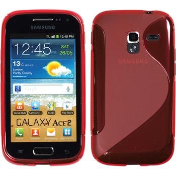 Silicone Case for Samsung Galaxy Ace 2 S-Style red