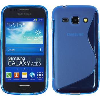 Silicone Case for Samsung Galaxy Ace 3 S-Style blue