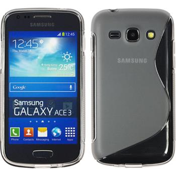 Silicone Case for Samsung Galaxy Ace 3 S-Style gray
