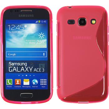Silicone Case for Samsung Galaxy Ace 3 S-Style hot pink