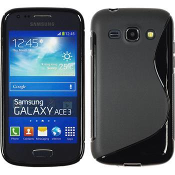 Silikon Hülle Galaxy Ace 3 S-Style schwarz