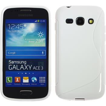 Silicone Case for Samsung Galaxy Ace 3 S-Style white