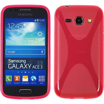 Silikon Hülle Galaxy Ace 3 X-Style lila