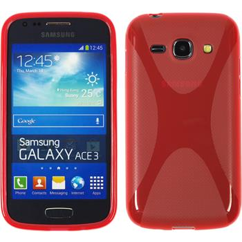 Silikonhülle für Samsung Galaxy Ace 3 X-Style rot