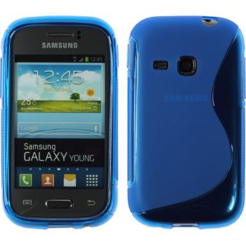 Silikon Hülle Galaxy Young S-Style blau