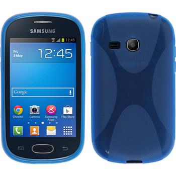 Silicone Case for Samsung Galaxy Fame Lite X-Style blue