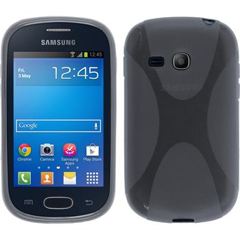 Silicone Case for Samsung Galaxy Fame Lite X-Style gray