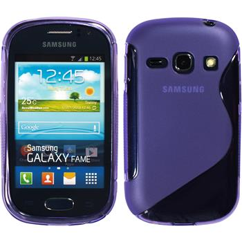 Silicone Case for Samsung Galaxy Fame S-Style purple