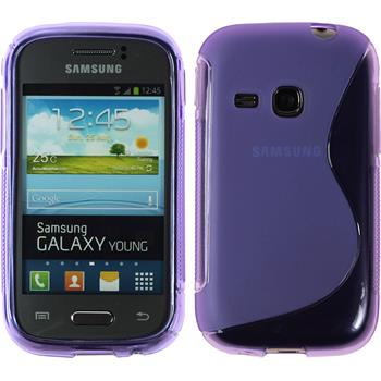 Silicone Case for Samsung Galaxy Young S-Style purple
