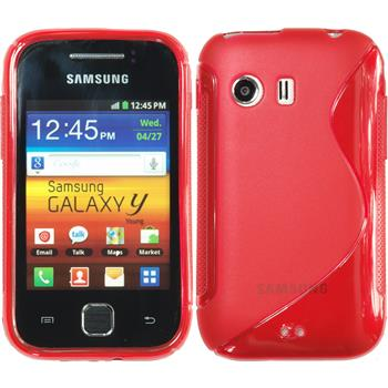 Silicone Case for Samsung Galaxy Y S-Style red