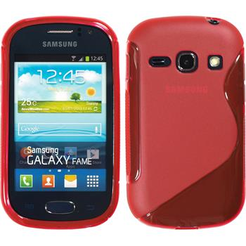 Silicone Case for Samsung Galaxy Fame S-Style red
