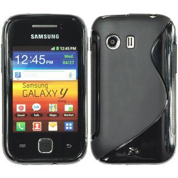Silikonhülle für Samsung Galaxy Y S-Style schwarz
