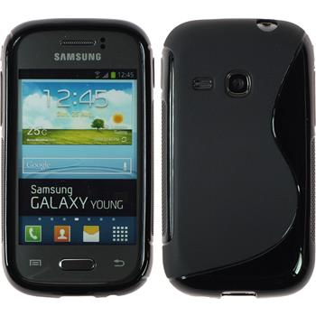 Silikon Hülle Galaxy Young S-Style schwarz
