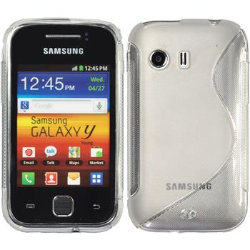 Silicone Case for Samsung Galaxy Y S-Style transparent