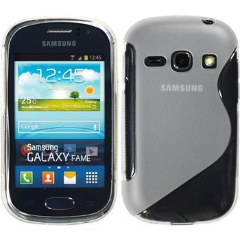 Silikon Hülle Galaxy Fame S-Style clear + 2 Schutzfolien